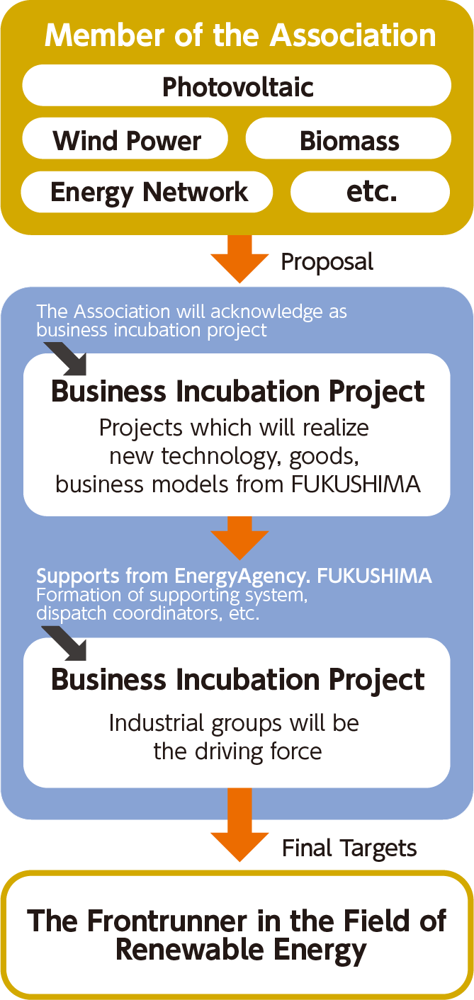 business incubation projects energy agency fukushima
